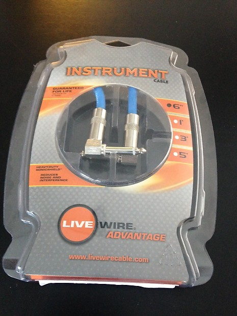 Live Wire Advantage Dual Angled Instrument Cable EG06LL - | Reverb