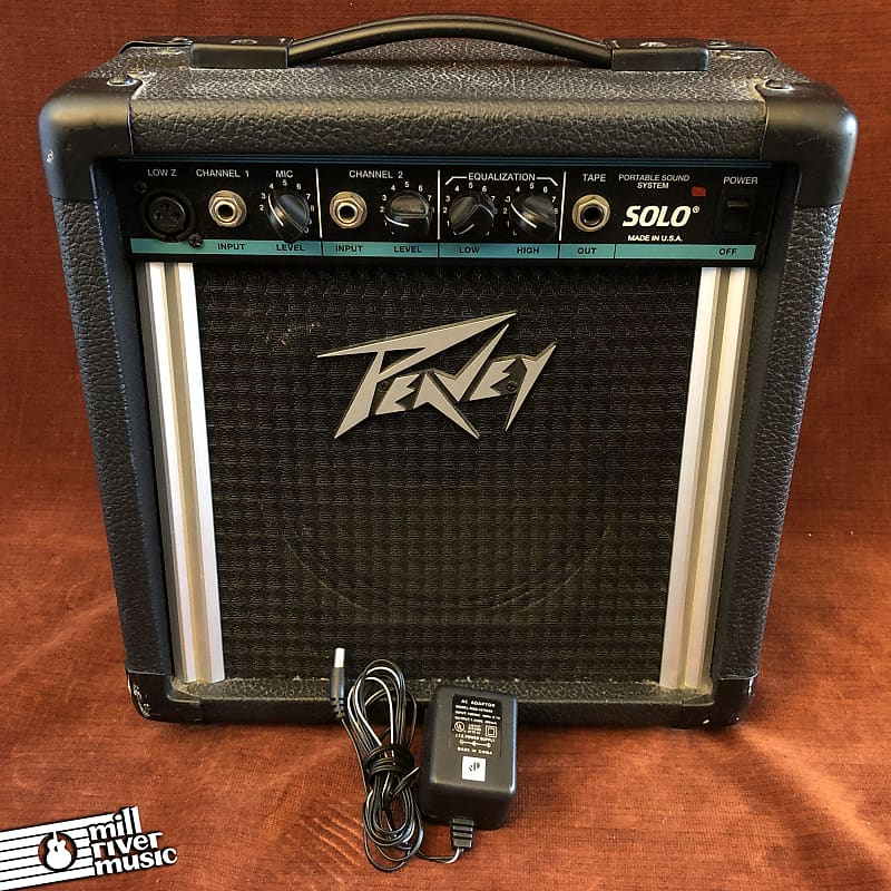 Peavey Solo III Portable Sound System PA Combo Amp w/ Power Supply