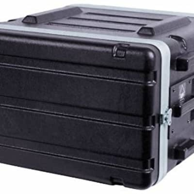 MBT 6-Space 6U Lightweight ABS Molded Plastic Rack Mount Road Tour Case