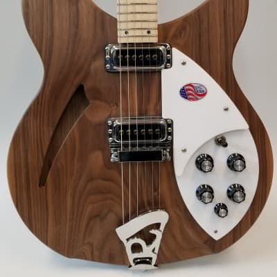 Rickenbacker 330 Electric Guitar, Thin-Line Semi-Acoustic, Walnut, 24 fret, 2 Pickups, Dot inlay, MW for sale