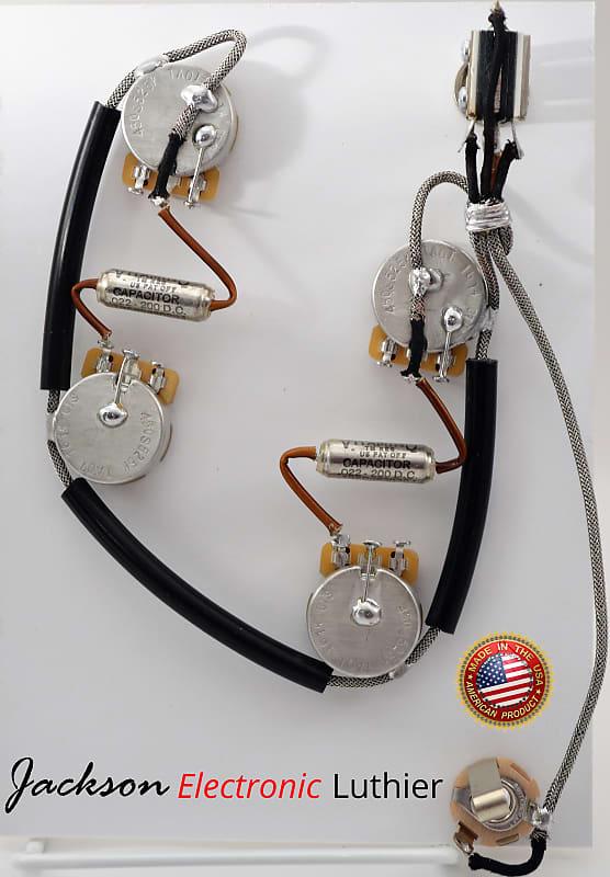 ES335 Wiring Harness for Epiphone//Dot or Sheraton 500k Vitamin Q .022uf Capa
