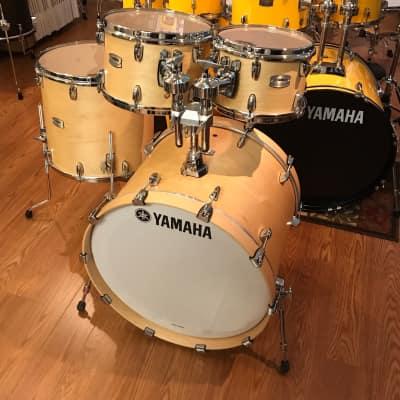"Yamaha Tour Custom Maple Butterscotch Satin 4 Pc Drum Set TMP2F4 w/22"" Bass"
