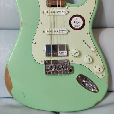 Shijie guitar Relic STE SSH stainless frets 2021 Surf Green (Sold) Pre Order Only for sale