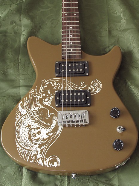 first act me4016 me4016 electric guitar rare with brown reverb. Black Bedroom Furniture Sets. Home Design Ideas