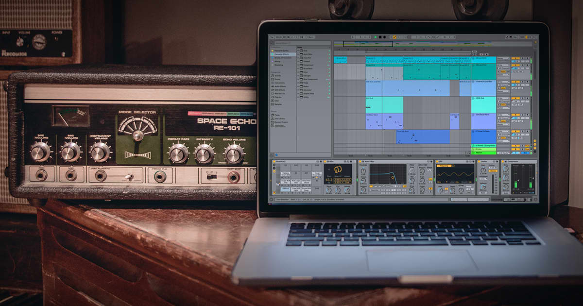 How to Recreate Classic Echoes and Delays with Ableton Live 10's Echo Plugin