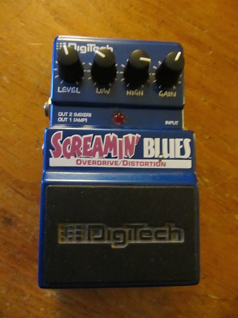 digitech screamin 39 blues overdrive distortion blue pedal reverb. Black Bedroom Furniture Sets. Home Design Ideas