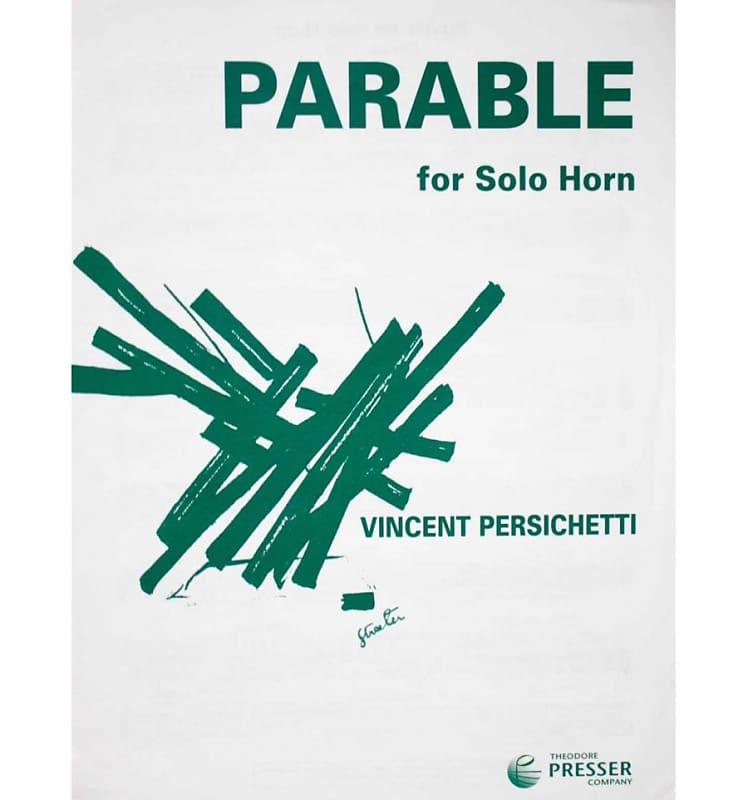 Parable for solo horn - Vincent Persichetti | Boutikazik