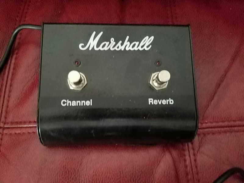 marshall reverb channel switch pedal 1990s black reverb. Black Bedroom Furniture Sets. Home Design Ideas