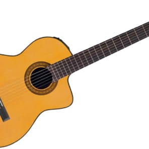 Takamine TC132SC Classical Cutaway Acoustic-Electric Guitar, Solid Cedar Top, Solid Rosewood Back, W/Case for sale