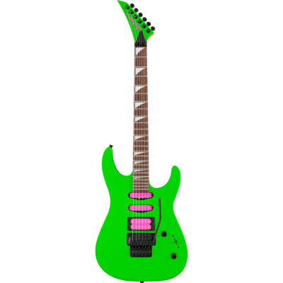 Jackson X Series Dinky DK3XR HSS Neon Green Electric Guitar with Floyd Rose for sale