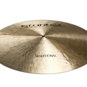 "Istanbul Mehmet 18"" Traditional Series Flat Ride Cymbal w/ Rivets"