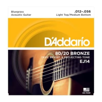 D'Addario Set Light Top/Medium Bottom (Bluegrass) 12-56