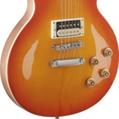 Stagg SEL-ZEB-HB L Series, Zebra Electric Guitar w/ Solid Mahogany Body & Maple Archtop, Honeyburst