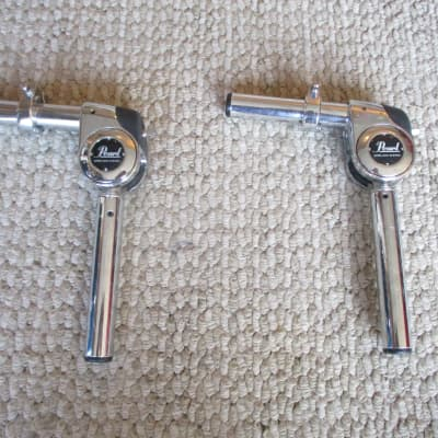 Pearl (2) Gyro Lock Short Tom Mounting Posts W/Locks - Excellent!