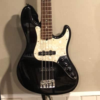 Fender American Deluxe Jazz Bass 2007 Black with Pearl for sale