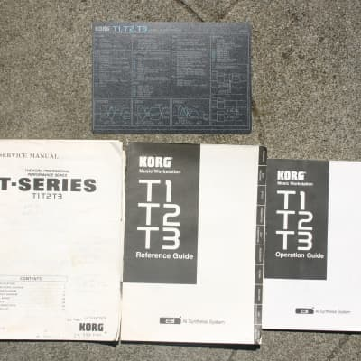 KORG T3 T2 T1 Operation and sevrvce manual set 1990s