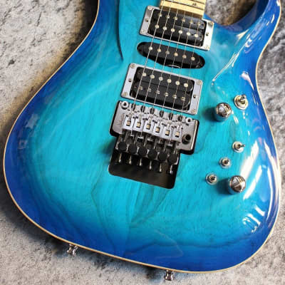 G-Life Guitars DSG Life Ash Royal Blue Turquoise #5066[made in japan][IKE011] for sale