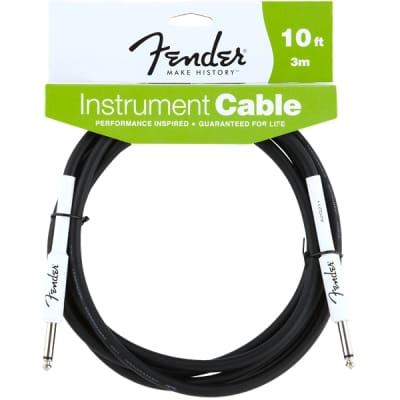 Fender Performance Series Instrument Cable - 10', Black for sale
