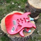 Alder Red rocket 1 Relic Vintage Fiasta Red  STrat Guitar body fits OEM 2 3/16th pocket, fender image
