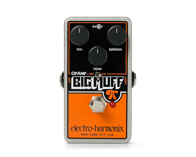 Electro-Harmonix EHX Op-Amp Big Muff Pi Distortion / Sustainer Effects Pedal
