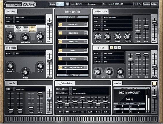 Cakewalk Z3TA+ 2 Waveshaping Synth
