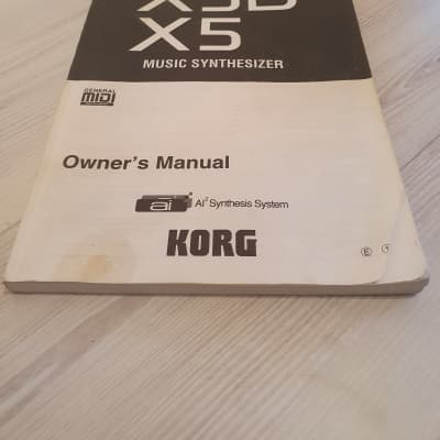 Korg X5D/X5 Manual. English Language. Good Condition. Global Ship. 2 Of 2.