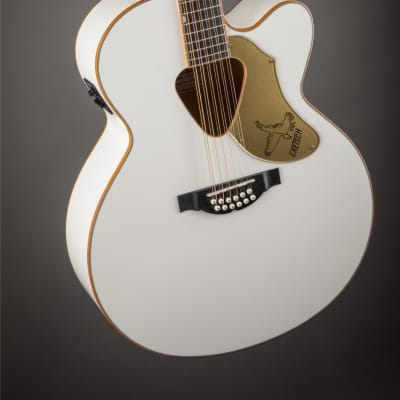 Gretsch G5022CWFE-12 Rancher Falcon Jumbo 12-String Cutaway Electric, Fishman Pickup System - White for sale