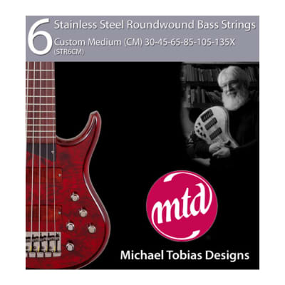 MTD STR6CM Stainless Steel Round Wound Custom Medium Bass Strings