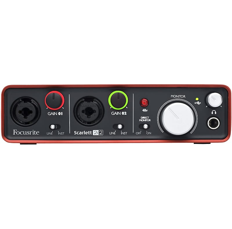 focusrite scarlett 2i2 usb audio interface w xlr cable and reverb. Black Bedroom Furniture Sets. Home Design Ideas