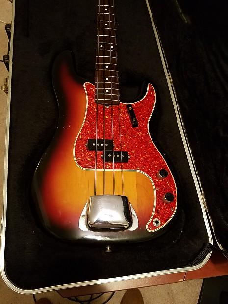 1983 Fender Fullerton 62 Reissue Precision Bass Sunburst