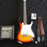 Tanara Teton  Electric Guitar Package 3 Tone Sunburst for sale