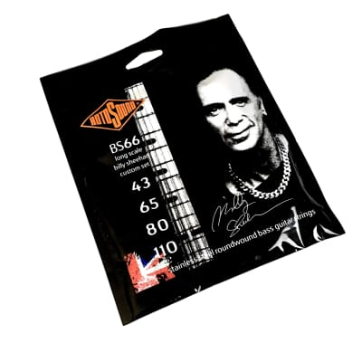 Rotosound BS66 Billy Sheehan Custom Bass Strings, Long Scale, Stainless Steel Roundwound for sale