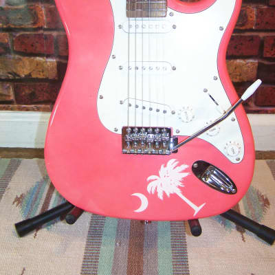 Mahar Strat Style, Pink Finish for sale