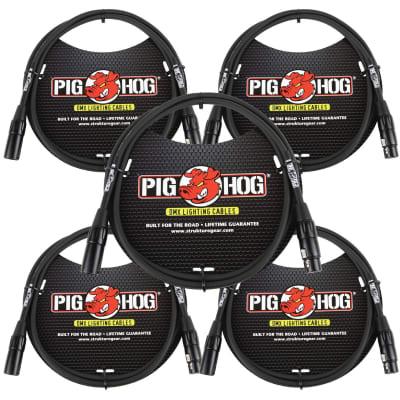 Lifetime Warranty! 5 PACK Pig Hog PHDMX5 5ft DMX Lighting Cable 3 Pin - NEW