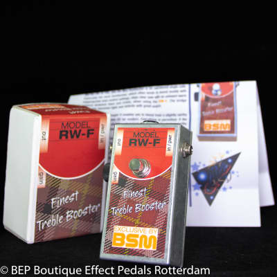 BSM RW-F Treble Booster s/n 4210 tribute to the sound of Ronnie Wood