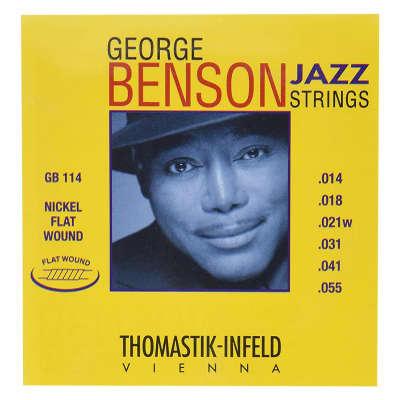 Thomastik-Infeld GB114 George Benson Jazz Nickel Flat-Wound Guitar Strings - Heavy (.14 - .55)