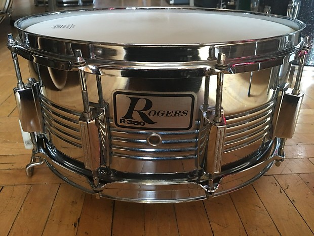 I 80 Auto Parts >> Rogers R-380 6.5x14 Steel Shell Snare Drum   Reverb