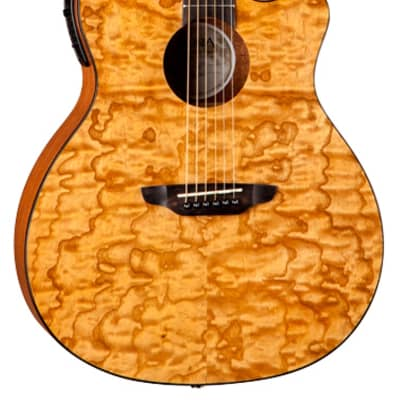 Luna GYP E QA GN Gypsy Quilt Ash Gloss Natural Acoustic-Electric Guitar with Preamp for sale