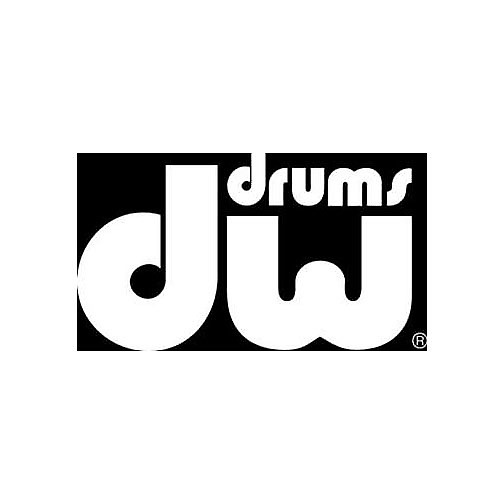 dw stickerdw bass drum logo white reverb