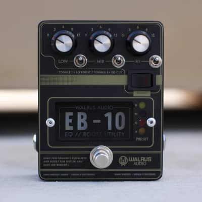 Walrus Audio EB-10 Preamp/Boost/EQ in Black for sale