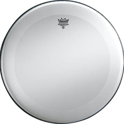 "Remo Powerstroke 3 Bass Drum Head Smooth White No Stripe 24"""