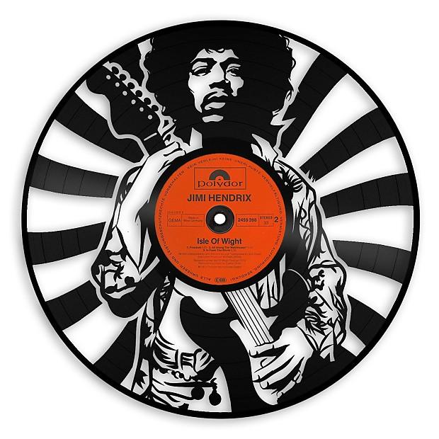 Jimi Hendrix Vinyl Wall Art - Dark Gray / No Frame | Reverb