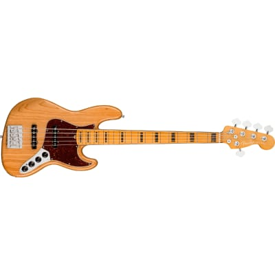 Fender American Ultra Jazz Bass V - Maple, Aged Natural for sale
