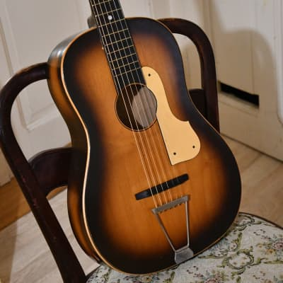 Vintage Cremona 522 Parlor Guitar, Czechoslovakia, 1950's(great little blues guitar, video included) for sale