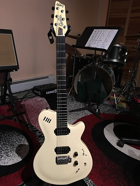 godin lgxt solid body electric guitar mod axe 2003 white reverb. Black Bedroom Furniture Sets. Home Design Ideas