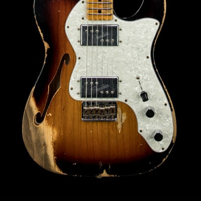 Fender Custom Shop Limited Edition '72 Telecaster Thinline Heavy Relic - Faded Aged 3-Color Sunburst for sale