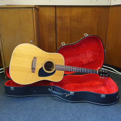 Heritage HFT-445 1989 Natural Flat Top Acoustic Guitar for sale