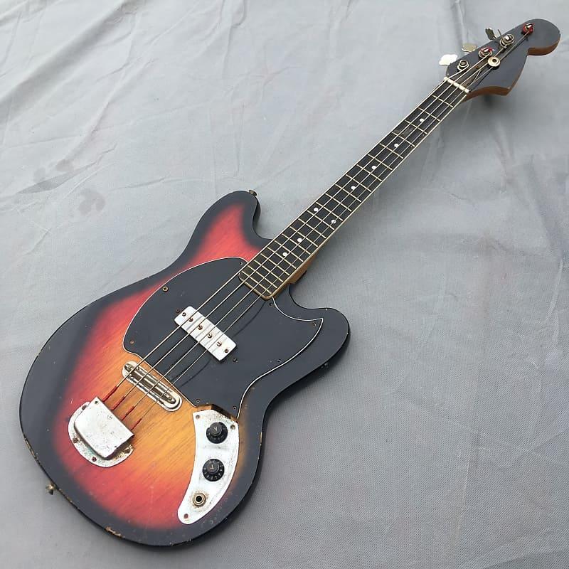 Teisco/ GEM/ Kay/ Unknown Electric Bass 60s Short Scale Single Pick Up Sunburst Project Japan/ Korea