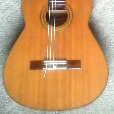 Conn C-10 1970,s? Vintage Japan made Solid Top Classical Guitar w/ alligator chip case. for sale