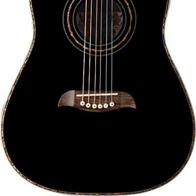 Oscar Schmidt 1/2 Size Student Acoustic Guitar, Select Spruce Top, Black, OGHSB for sale